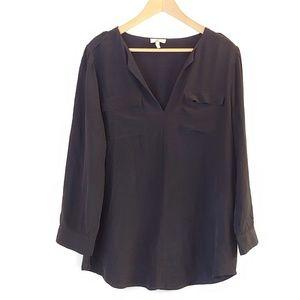 NWOT Joie Silk Blouse W/ Breast Pockets